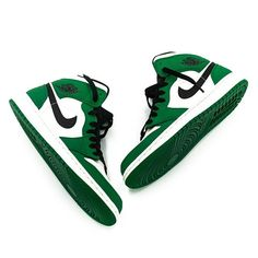 "7f7d64762c9 Tag #Nohble on Instagram: ""The Air Jordan 1 Mid ""Pine Green"" (GS & Men's  sizes) and the Air Jordan 1 Mid ""Top 3"" (Full family sizes) are available  now on ..."