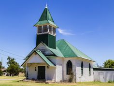 https://flic.kr/p/KdoLpK | New Roof | Old church with new roof in Oklahoma.