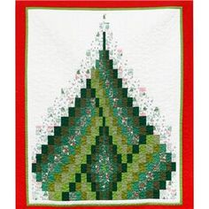 Bargello Christmas Tree Quilt Kit: Fabric (7.5m), Instructions and Thread