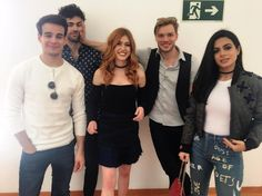 "@kitkatsmeow: Our attempt at a ""nice group picture."" The shenanigans have begun… #ShadowhuntersNaCCXP"