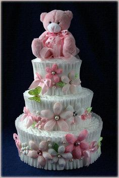 The Appropriate Baby Showers Gifts – Gift Ideas Anywhere Baby Shower Crafts, Girl Baby Shower Decorations, Baby Shower Centerpieces, Cake Centerpieces, Cake Decorations, Baby Shower Baskets, Baby Shower Diapers, Baby Boy Shower, Baby Girl Cakes