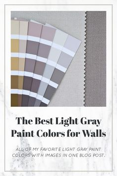 Get a list of tried and true light gray paint colors for walls with example images and an explanation of undertones. Light Grey Paint Colors, Behr Paint Colors, Paint Colors For Living Room, Paint Colors For Home, House Color Schemes Interior, Interior Wall Colors, Interior Plants, Farm House Colors, Favorite Paint Colors