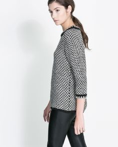 Image 1 of TWO TONE KNIT SWEATER from Zara