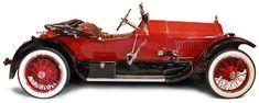 Een typerende 'speedster', deze Stutz 'Bearcat': laag chassis, sterke motor, weinig opsmuk.