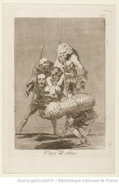 [Los caprichos]. P. 77, Unos à otros : [estampe] / [Goya] - 1
