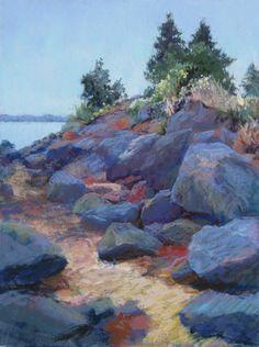 Marsha Hamby Savage - Rocky Path, pastel, 16x12