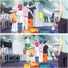 "XD Ami is just walking like ""whatever I don't know you guys"""
