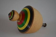 Wooden spinning top, Japanese koma, mingei folk craft by StyledinJapan on Etsy