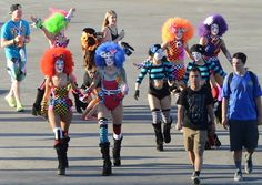 Costumed performers mingle with the crowd at Insomniac's 2013 Electric Daisy Carnival on day 2 of the 3 day dusk 'till dawn electronic music event at the Las Vegas Motor Speedway. Saturday, June 22, 2013. (Photo/Las Vegas News Bureau, Glenn Pinkerton)