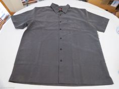 Mens Quiksilver Weekend Surf SS button up shirt XXL BLK black plaid AQYWT00111