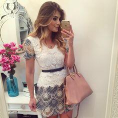Jeans com Renda by @desnude  Muito amor!  • #lookdodia #lookoftheday #ootd…