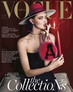 Lindsey Wixson glams for the December 2015 issue of Vogue Korea, captured by Junseob Yoon and styled by Ye Young Kim.