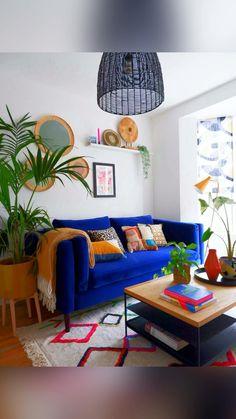 Teal And Orange Living Room Decor, Funky Living Rooms, Living Room Themes, Colourful Living Room, Living Room Colors, Living Room Decor Curtains, Living Room Decor Cozy, Interior Design Living Room, India Home Decor