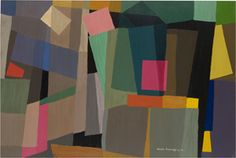 Grace Crowley 'Composition – movement' stencilled and hand-painted gouache on green paper, Collection of the National Gallery of Australia, Purchased 1993 Australian Painters, Australian Artists, Graffiti, Composition Painting, Draw On Photos, Color Studies, Sculpture, Crowley, Abstract Oil