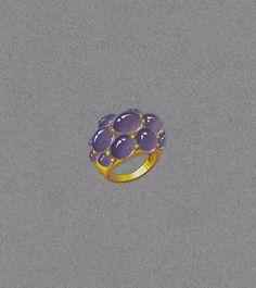 Gouache. Ring by Seaman Schepps. Painted Mazur-K