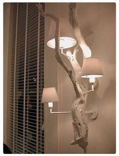 30 Chic Home Design Ideas – European interiors. - Olga Moldovan - Diy Home Design Driftwood Lamp, Decor, Home Diy, Wood Lamps, Lamp, Diy Lamp, House Design, Creative Furniture, Chic Home Design