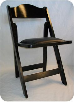 Black High Back Wooden Garden Chairs for Rent!