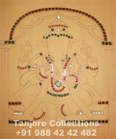 tanjore painting stone sticking stage