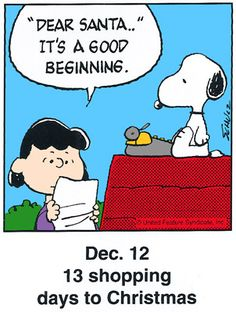 12 this is a classic countdown panel from 1998 christmas comics peanuts - Peanuts Christmas Quotes