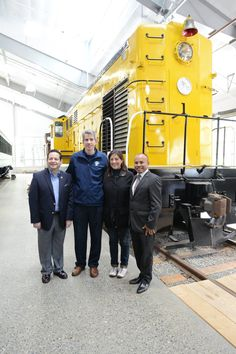 Apr 11, 2015 - The Northwest Railway Museum hosted (from left to right) Miguel Angel Velasquez G. (Consul General of Peru), Snoqualmie Mayor Matt Larson, Congresswoman Suzan DelBene (Washington 1st District), and Federico Pariona Galindo (President of the Commission of Andean, Amazonian and Afro-Peruvian Environment & Ecology) on a train excursion, with a visit to the Conservation and Restoration Center and Train Shed.