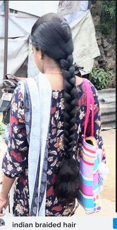 Indian Bridal Hairstyles, Braided Hairstyles, Beautiful Indian Actress, Beautiful Women, Indian Long Hair Braid, Indian Jewelry Sets, Beautiful Braids, Super Long Hair, Braids For Long Hair