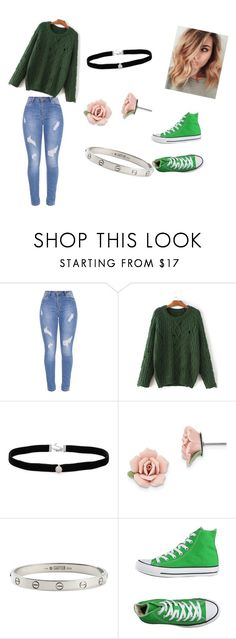 """luck of the Irish part 2"" by shalisajohnson on Polyvore featuring WithChic, Amanda Rose Collection, 1928, Cartier and Converse"