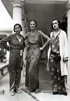 A bit of fashion history. Did women wear pants? pants for women were limited to sportswear, pajamas, and rebellious personalities. 1920s Fashion Women, Vintage Fashion, Womens Fashion, Vintage Style, Vintage Glamour, Fall Fashion, Casual Outfits, Fashion Outfits, Fashion Trends