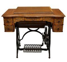 Vindex Oak Treadle Sewing Machine c.1900