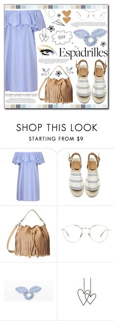 """""""Step into Summer: Espadrilles"""" by ana-a-m ❤ liked on Polyvore featuring WithChic, Linda Farrow, Club Monaco and espadrilles"""