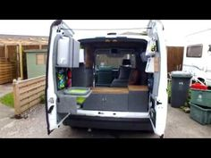 Tiny Van Ford Transit Connect Conversion Tour - All Finished Van Conversion Ford Transit, Van Conversion Layout, Cargo Van Conversion, Airstream Campers For Sale, Camper Trailer For Sale, Small Camper Vans, Small Campers, Ford Transit Connect Camper, Minivan Camping