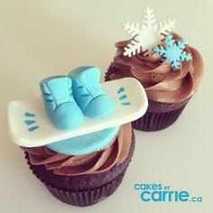 Snowboards & Snowflakes www.cakesbycarrie.ca