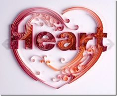 quilled heart valentine