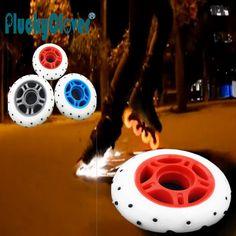 4pcs/lot 72 76 80mm Fire Spark Roller skate wheel 85A Flash roller skate wheel 52 flint Fire stone flashing roller skate wheels