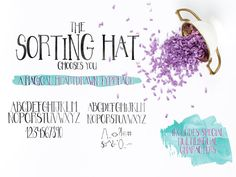Sorting Hat Font - A Hand Drawn Serif Typeface from TheGoldenLetterShop