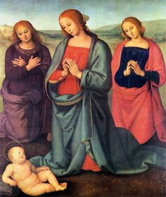 Madonna with Saints Adoring the Child 1503 Oil on wood, 87 x 72 cm The Morgan Library and Museum, New York