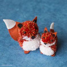DIY: pom pom fox