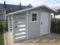 Wood Shed, Terrace Garden, Play Houses, Backyard, Outdoor Structures, Outdoor Decor, Sheds, Design, Home Decor