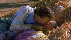 10 Things I Hate About You: Patrick (Heath Ledger) and Kat (Julia Stiles) roll around in the hay after a paintball date.