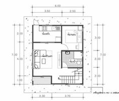 House Plans Idea with 3 Bedrooms - Sam House Plans Simple House Plans, Simple House Design, House Floor Plans, Home Living Room, Living Room Designs, Flat Roof House Designs, Suite Principal, Three Bedroom House Plan, House Elevation