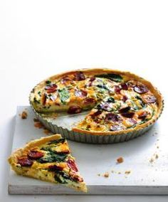 Quiche se špenátem a klobásou Cooking Recipes, Healthy Recipes, What To Cook, Food Lists, Bon Appetit, Food Videos, Pizza, Food And Drink, Appetizers