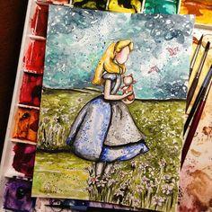 Alice & Dinah | Alice in Wonderland | Fan Art | triciakibler's photo on Instagram
