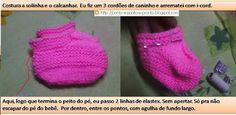 Ponto a ponto e, pronto!: Sapatinho para bebe 8 meses, em tricô e com PAP