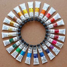 Art Supply Stores, Color Tag, Acrylic Paint Set, Flat Lay Photography, Arte Floral, Love People, Art Supplies, Stationery, Creative