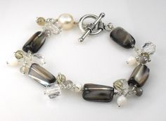 Mother Of Pearl Quartz Agate Cluster Sterling