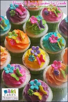 butterfly and flower cake images | Tinkerbell Cupcakes for Graciella « mama kintan & kinar belajar masak
