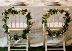 Decoração das cadeiras do casamento 2017