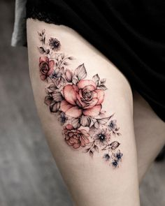 Sweet Summer Colorful Flower Tattoo Designs - Famous Last Words Colorful Flower Tattoo, Vintage Flower Tattoo, Flower Tattoo Designs, Tattoo Designs Men, Colorful Tattoos, Vintage Floral Tattoos, Tattoo Ideas Flower, Colorful Flowers, Mini Tattoos
