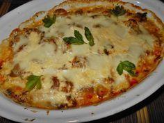 Pierś zapiekana z mozzarellą Cheeseburger Chowder, Mozzarella, Quiche, Mashed Potatoes, Soup, Meat, Chicken, Breakfast, Ethnic Recipes