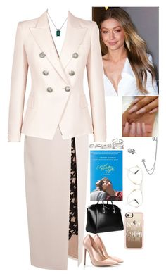 """""""Untitled #1240"""" by fatyhnrqz94 ❤ liked on Polyvore featuring Marios Schwab, Balmain, Bling Jewelry, GUESS, Ray-Ban, Givenchy, Casetify and Urban Outfitters"""