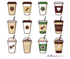 Coffee cup clipart coffee vector illustrations coffee pot coffee break espresso cappuccino latte mocha ice coffee paper cup - Coffee Icon - Ideas of Coffee Icon - Coffee Cup Clipart, Coffee Vector, Cute Food Drawings, Cute Kawaii Drawings, Coffee Cup Drawing, Coffee Cup Tattoo, Coffee Icon, Drawing Anime Clothes, Coffee Illustration